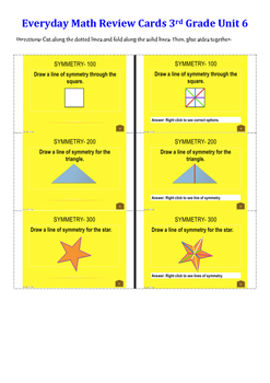 Everyday Math Unit 6 Flashcards Grade 3