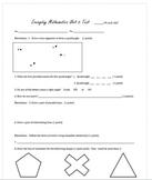 Geometry Unit Assessment