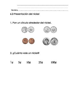 Everyday Math-Unit 6 Kindergarten Exit Slips in Spanish