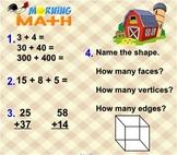 Everyday Math Unit 6 Morning Math SMARTBoard