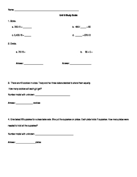 Everyday Math Unit 6 Study Guide
