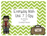 Everyday Math Unit 7 I-Spy Game for 2nd grade