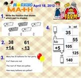 Everyday Math Unit 7 Morning Math SMARTBoard