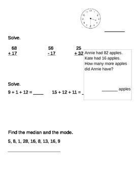 Everyday Math Unit 7 Quiz