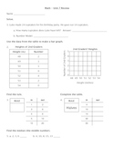Everyday Math - Unit 7 Review Worksheet