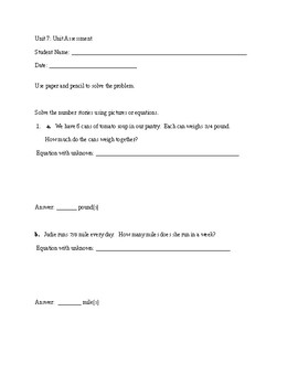 Everyday Math Unit 7 Study Guide