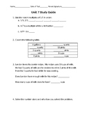 Everyday Math Unit 7: Study Guide