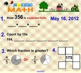 Everyday Math Unit 8 Morning Math SMARTBoard