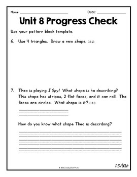 Everyday Math Unit 8 Review, Homework, and Test (Common Core Aligned)
