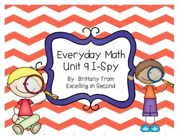 Everyday Math Unit 9 I-Spy Game for 2nd grade