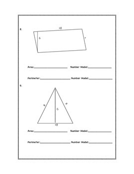 Everyday Math; Unit 9 Post-Test/Study Guide