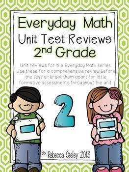 Everyday Math Unit Reviews- 2nd Grade