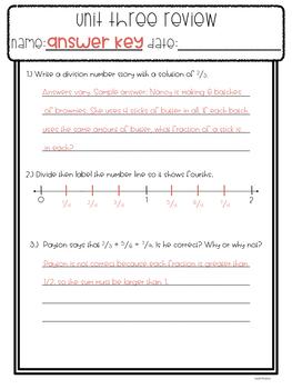 Everyday Math Unit Reviews Growing Bundle