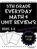 Everyday Math Unit Reviews Bundle