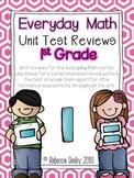 Everyday Math Unit Test Reviews- First Grade