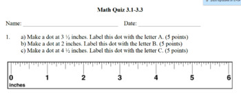 Everyday Math Units 1-3 Quizzes