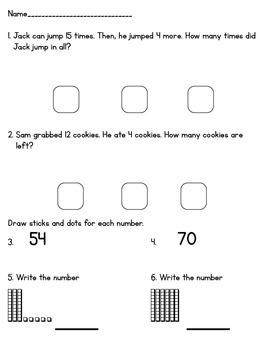 Everyday Math Units 3-5 Mini Assess First Grade