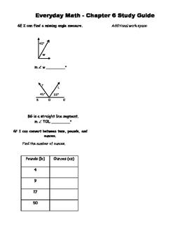 Everyday Math Version 4 Grade 4 Unit 6 Study Guide
