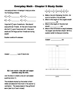 Everyday Math Version EM4 Grade 4 Chapter 5 Study Guide
