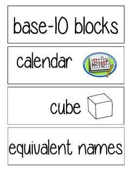 Everyday Math Vocab 2nd Grade
