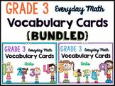 Math Vocabulary Cards - BUNDLED! {GRADE 3} EDM4