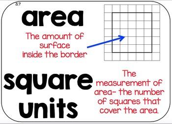 Math Vocabulary Cards - Units 1-4 {GRADE 3} - EDM4