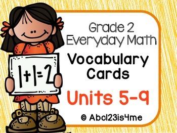 EDM4 - Vocabulary Cards- Units 5-9 - Grade 2