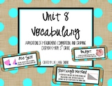 Everyday Math Vocabulary, Unit 8 5th Grade