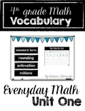 Everyday Math Vocabulary - Unit One