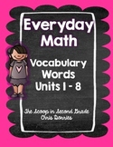 Everyday Math Vocabulary Words 2nd Grade - All Units