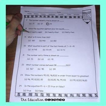 Math Assessment Grade 2