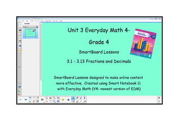 Everyday Math (version 4) Grade 4 SmartBoard- Unit 3 Fractions and Decimals