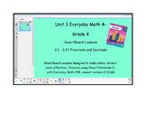Everyday Math (version 4) Grade 4 SmartBoard- Unit 3 Fract