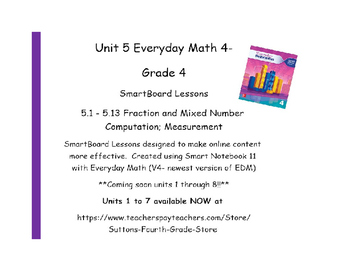 Everyday Math (version 4) Grade 4 Smartboard- Unit 5 Fraction & Mixed Number