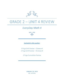 Everyday Math4 - Grade 2 - Unit 4 Review