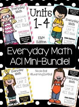 Everyday Math 4 (EM4) - Units 1-4 ACI Mini-BUNDLE for Second Grade!