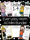 Everyday Math 4 (EM4) - Units 1-4 ACI Mini-BUNDLE for Seco
