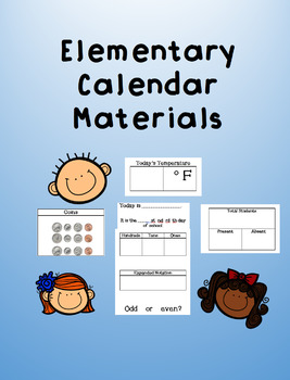 Everyday Math Calendar Materials Coins/Days of School/Place Value/Temperature