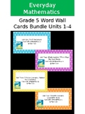 Everyday Mathematics 4 Grade 5 Word Wall Cards Bundle for