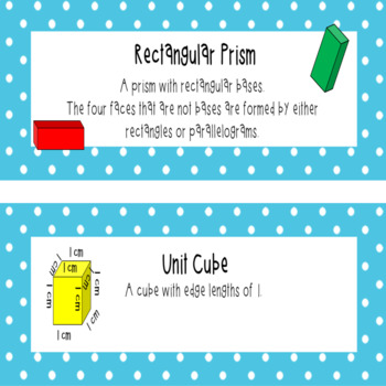 Everyday Mathematics 4 Grade 5 Word Wall Cards for Unit 1