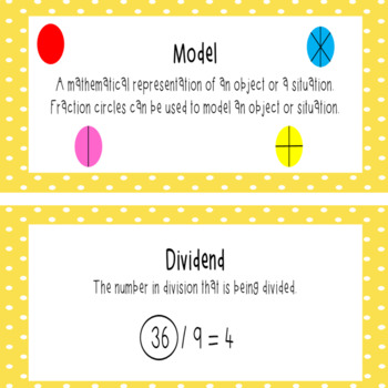 Everyday Mathematics 4 Grade 5 Word Wall Cards for Unit 3