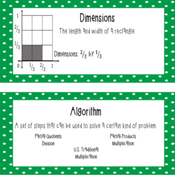 Everyday Mathematics 4 Grade 5 Word Wall Cards for Unit 5
