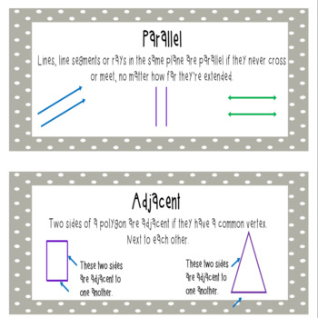 Everyday Mathematics 4 Grade 5 Word Wall Cards for Unit 7