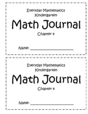 Everyday Mathematics Chapter 4 Kindergarten Journal
