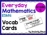 Everyday Mathematics EDM4 Unit 2 Vocab Cards