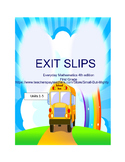 Everyday Mathematics Exit Slips (premade) FIrst Grade