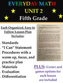 Everyday Mathematics Fifth Grade Unit 2 Math Lesson Plans