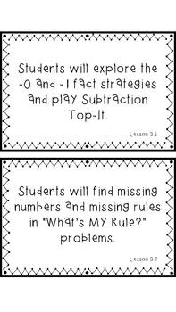 Everyday Mathematics Grade 2 Objective Cards