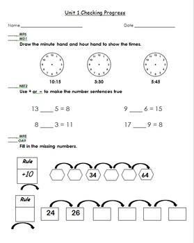 Everyday Math Grade 3 Units 1-11 Tests (Checking Progress)