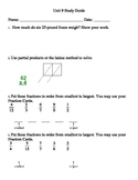 Everyday Mathematics Unit 9 Grade 3 Study Guides